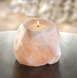 Himalayan Salt Candleholder | Natural Salt Crystal Candleholders - The Himalayan Salt Boutique