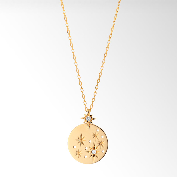 STAR JEWELRY  CROSSING STAR PLATE NECKLACE: ネックレス