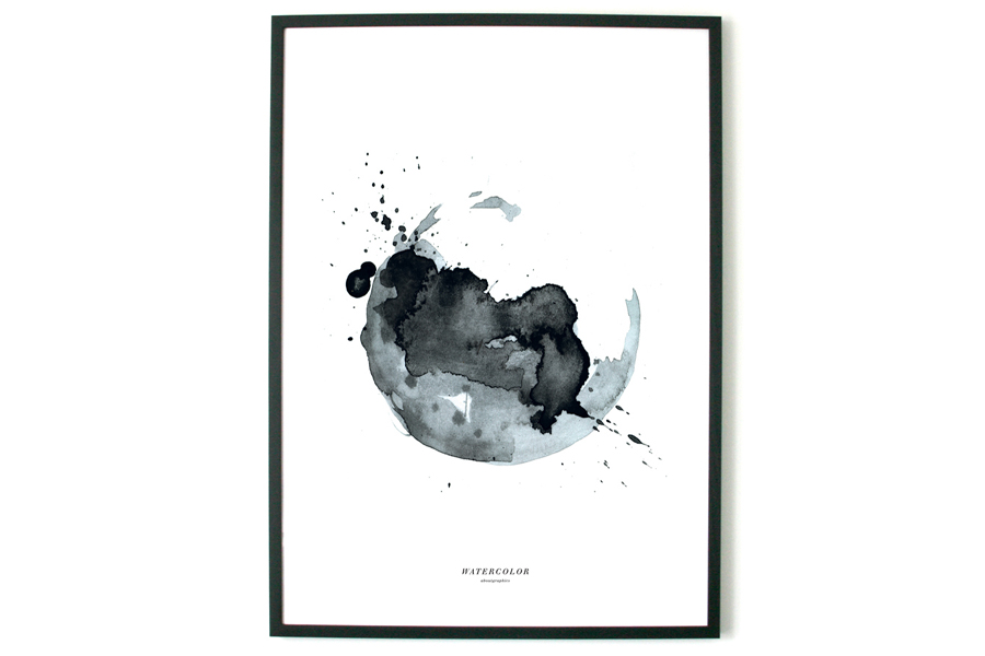 about graphicsアバウトグラフィックス ポスター/アートプリント 50×70cm WATERCOLOR #1