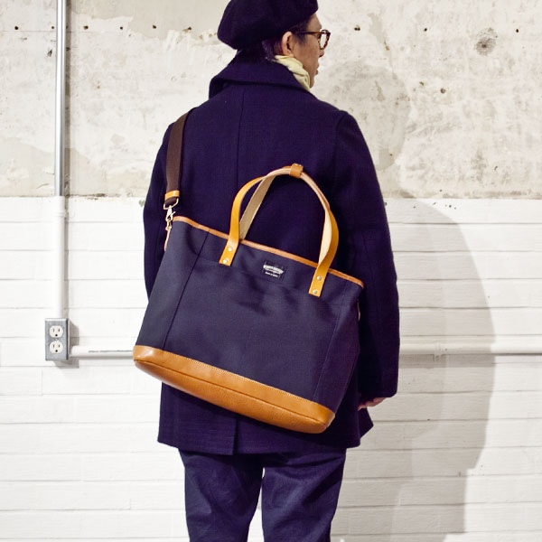 グッドマンズ・2ウェイトート/NAVY ネイビー - struct / blueover WONDER BAGGAGE hola Tiny Formed