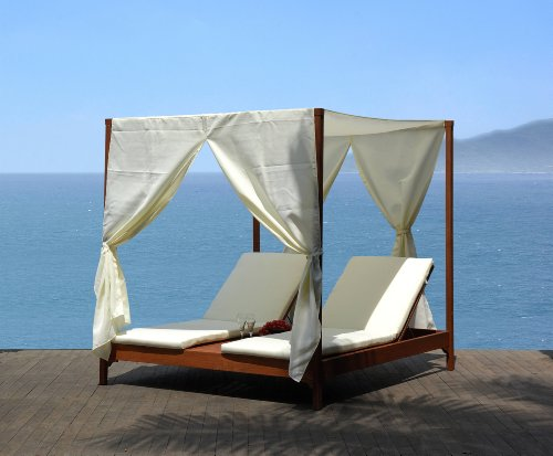 Amazon.com: Clevedon Outdoor Patio Canopy Day Bed Lounger daybed By Azzurro Living: Patio, Lawn & Garden