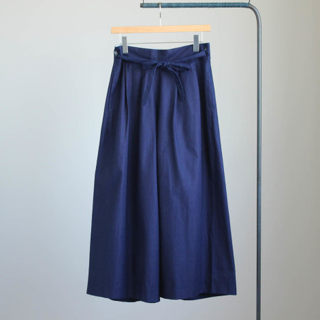 Belt Wide Pants #indigo