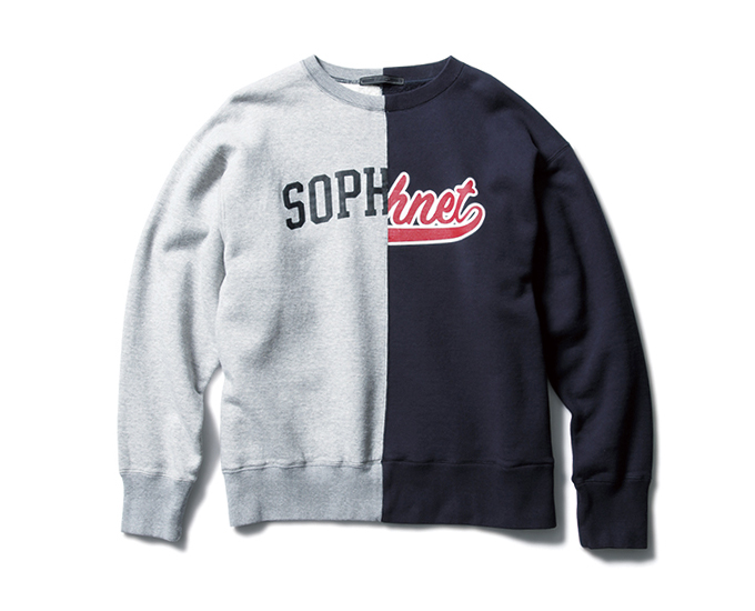 SOPHNET. | PRODUCT | SPLIT LOGO CREW NECK SWEAT