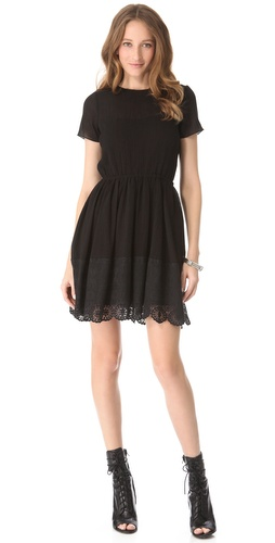 Girl. by Band of Outsiders Short Sleeve Dress with Lace | SHOPBOP