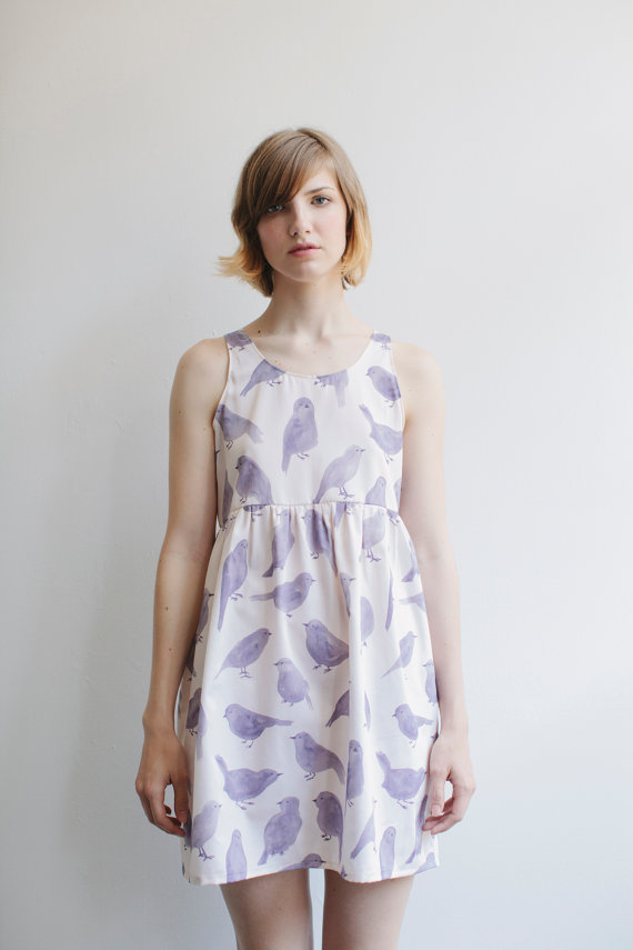 Blue Bird Dress by leahgoren on Etsy