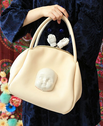 AHCAHCUM陶器顔付きガマグチBAG AHCAHCUM_preorder Palm maison store