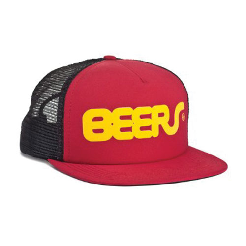 HUF - BEERS TRUCKER SNAP BACK (Red) - Growth skateboard elements
