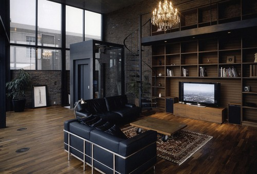 Home Interior Design / A dark but open space.