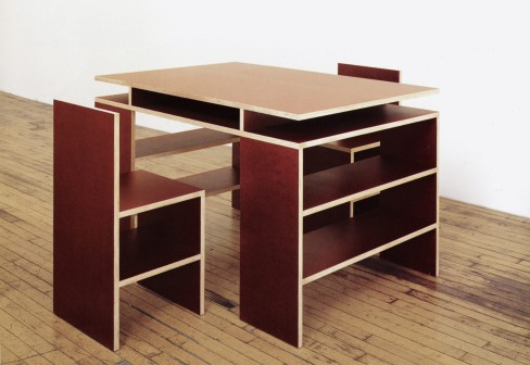 Schellmann Desk And Two Chairs | Donald Judd | chairs at Stylepark