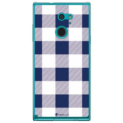 Buffalo check ネイビー×ホワイト (クリア) design by Moisture / for arrows Fit F-01H/docomo