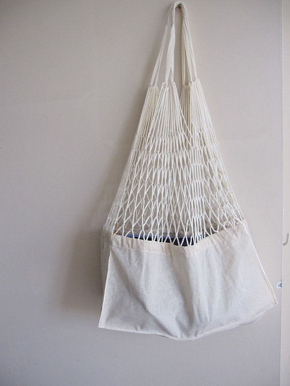 Linen Mesh Market shop bag tote Turkish Anatolian by Scarves2012