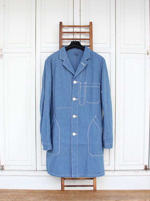 """A VONTADE """"Duster Coat""""(Blue Stripe) Local's only"""