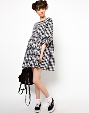 The WhitePepper | The WhitePepper Smock Dress in Gingham Check at ASOS