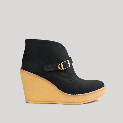 Preston Faux Suede Wedge Bootie 110mm