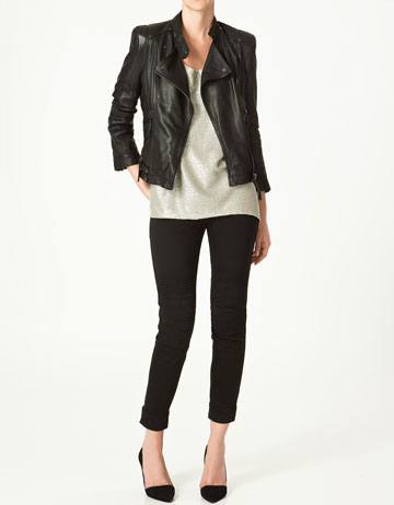 LEATHER JACKET - Collection - Blazers - Collection - Woman - ZARA Japan