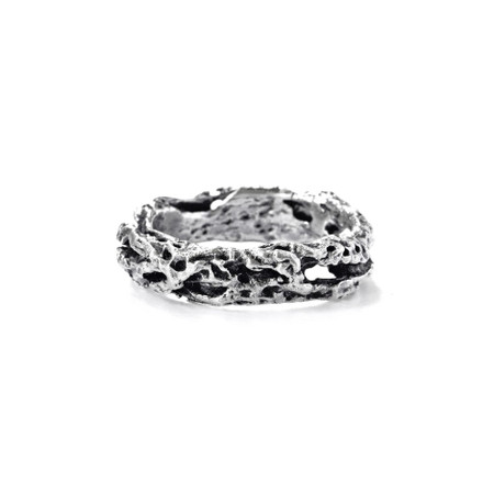 Riddle Ring - Silver & Black