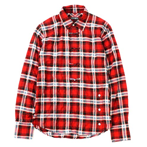 CASH CA / CH BUTTON PULLOVER SHIRT [RED] - Heather Grey Wall ONLINE store