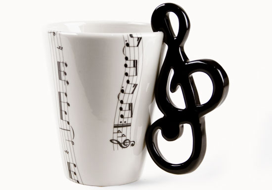 Treble Clef | Music | Coffee Mugs | Blue Witch Ceramics