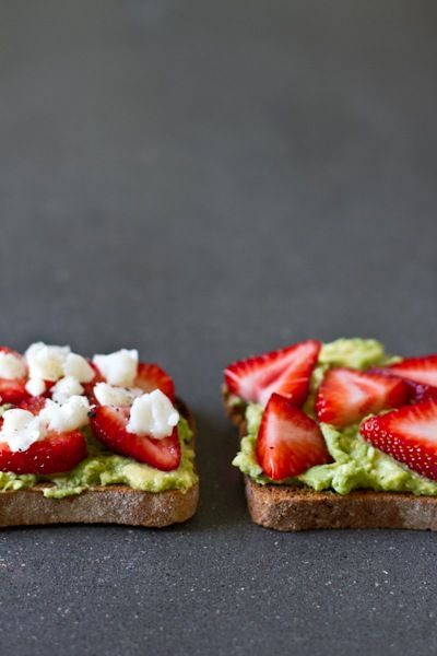 edible perspective - Home - avocado strawberry + goat cheesesandwich