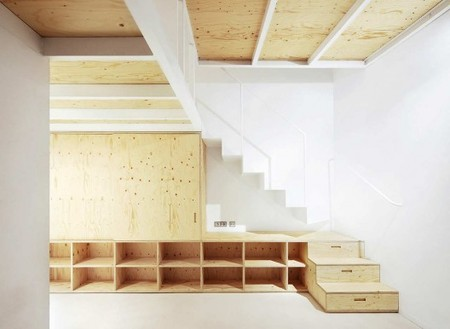 Plywood In-house furniture, Barcelona, Spain