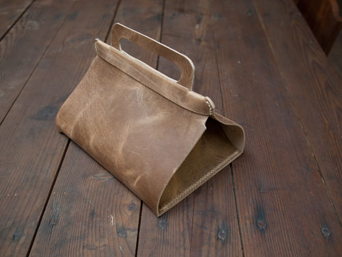 diy project: leather lunch tote | Design*Sponge