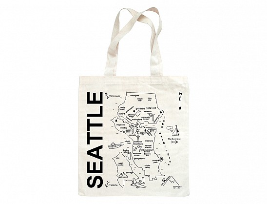 Maptote   Seattle Grocery Tote