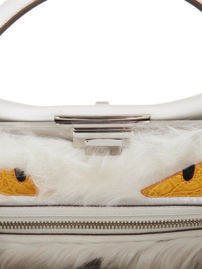 Peekaboo shearling-lined large leather tote | Fendi | MATCHESF...