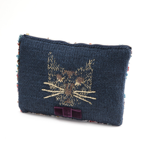 Cat clutch bag | 935Hand-knitted