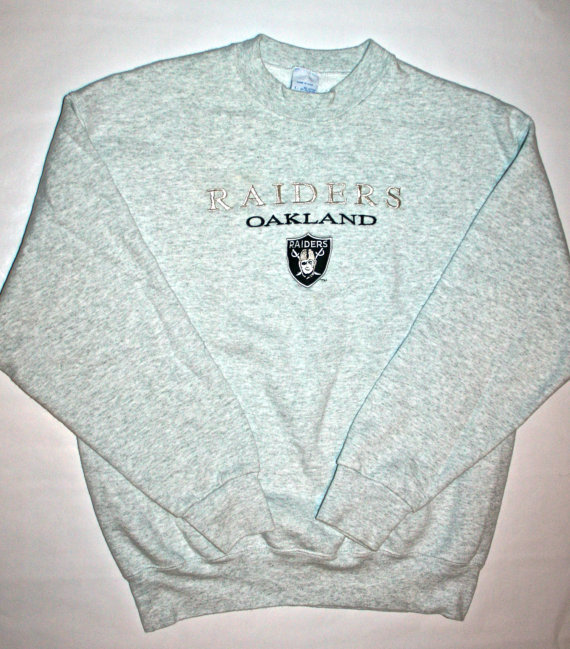 Vintage Raiders Mens Sweatshirt Size Large by VintageMensGoods