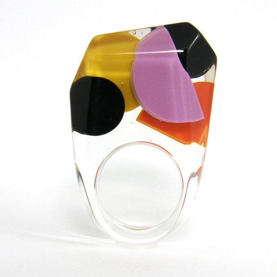 Color Box Resin Ring by sisicata on Etsy