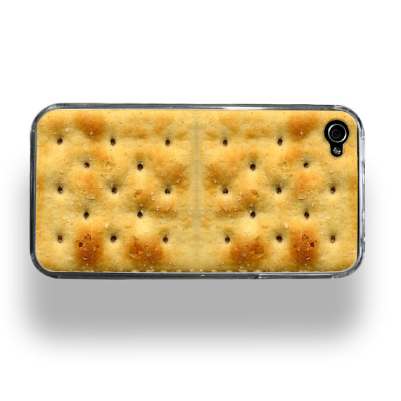 Saltine Cracker Apple iPhone 4 or 4S Custom by ShopZeroGravity