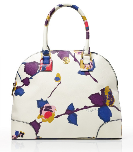 Tory Burch Printed Robinson Dome Satchel in Multicolor | Lyst
