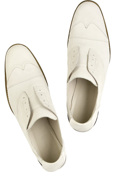 Jil Sander slip-on leather brogues - Material Archive