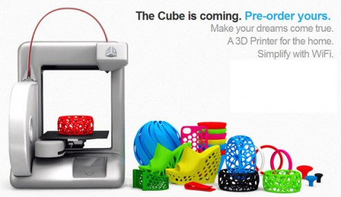 Cube: Cubify 3D Printer, Now Available For Pre-Order! | The Cool Gadgets - Quest for The Coolest Gadgets
