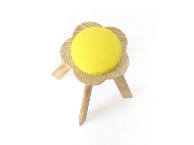 kamakura terrace - flower stool|white ash small