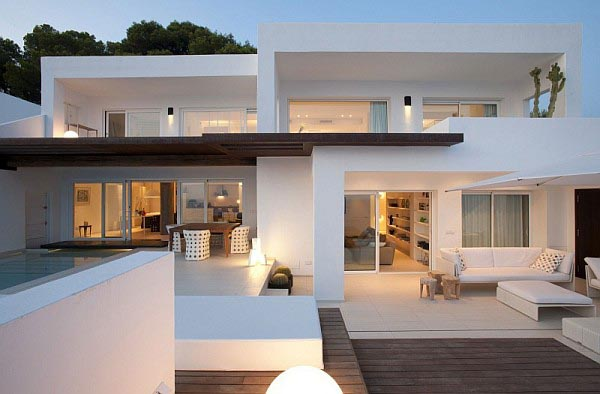White Luxurious Villa on Ibiza, Spain by Juma Architects