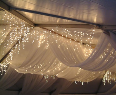 tent draping and lighting- Pretty Wedding ... | we heart all of this