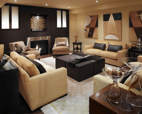 Living room with brown color scheme [500x400] - Imgur