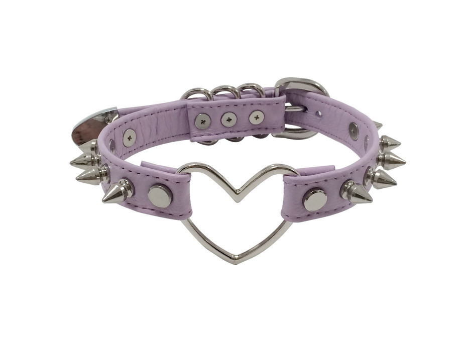 Spiked Heart Ring Choker ( Lavender ) · CREEPYYEHA · Online Store Powered by Storenvy