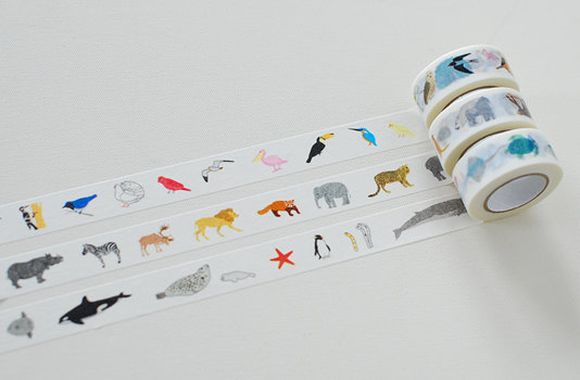Colte Washi Masking Tape Animals from Sky Land & by craftyjapan