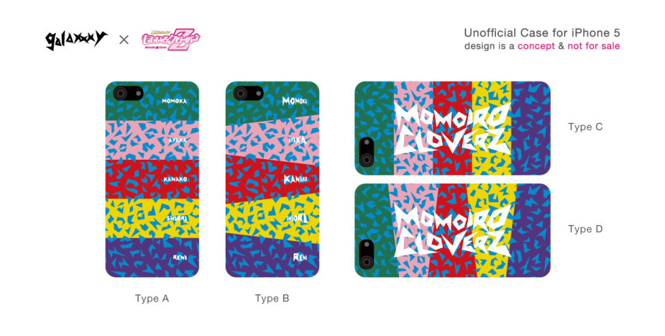 galaxxxy × ももいろクローバーZ風 iPhone Case | 4269WORKS