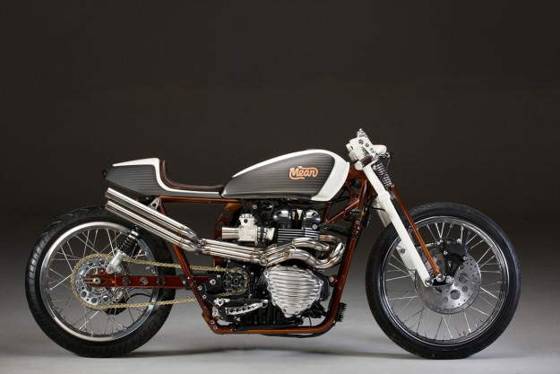 MeanMachines: Giving the Bonneville a board tracker vibe   Bike EXIF
