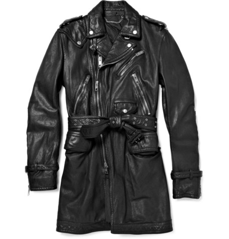 Burberry ProrsumLeather Trench Coat|MR PORTER