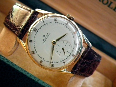 1950′s Solid 9ct Gold Rolex Sub-Second Gents Vintage Watch | Sonning Vintage Watches