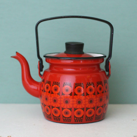FINLAND ARABIA(FINEL) ENAMEL SMALL KETTLE - 北欧ビンテージ雑貨ショップ|THE TIME HAS COME