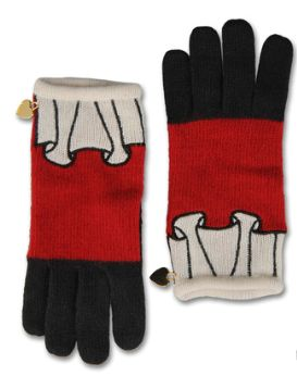 【LASO ラソ】★NEW ARRIVAL 2011/A/W ★MOSCHINO GLOVES/weight knit /red モスキーノ