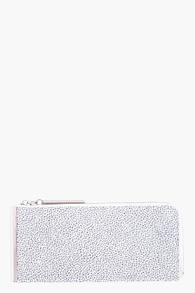 3.1 Phillip Lim Speckled White Leather Continental Zip Wallet for Women | SSENSE