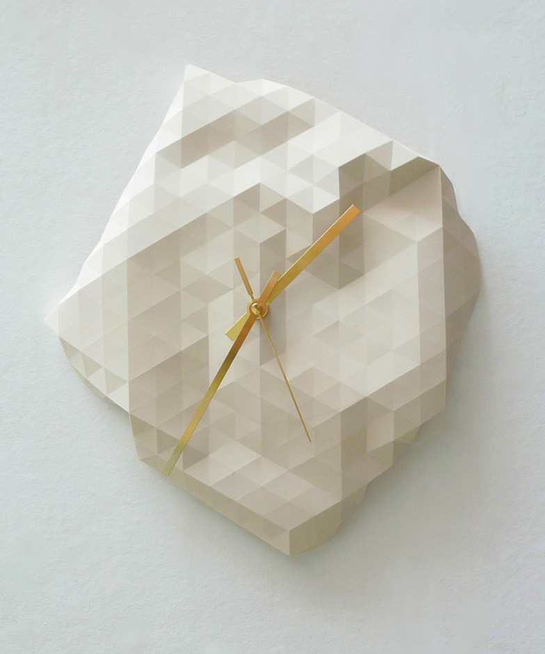 4-D Timepiece - Cream - Origami Everywhere Collection - Dot & Bo