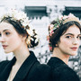 Glowing floral crowns at Reem Acra Fall 2015 Bridal