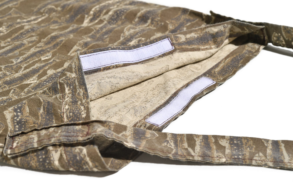 Book Bag-Printed Flannel/Camouflage-Trout